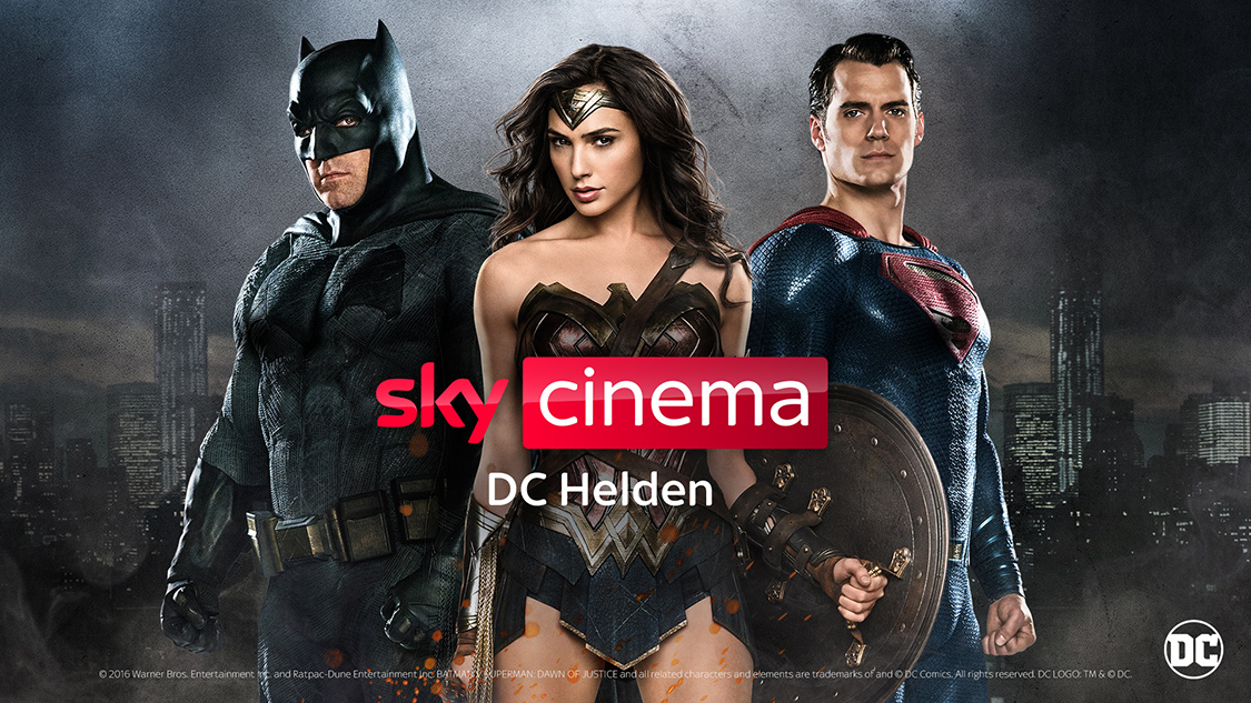 Neuer Pop-up-Sender bei Sky im April und Mai: Sky Cinema DC Helden